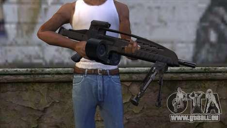 XM8 LMG Black für GTA San Andreas dritten Screenshot