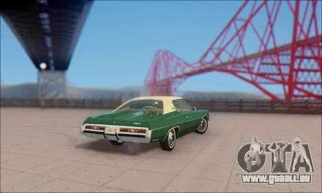 Chevrolet Impala 1972 pour GTA San Andreas sur la vue arrière gauche