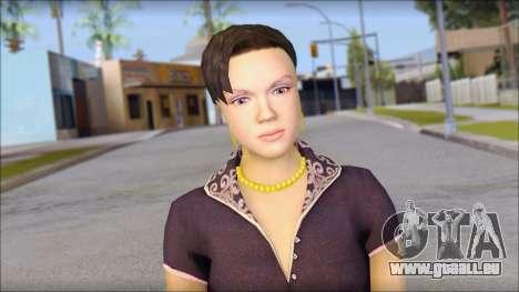 Young Woman pour GTA San Andreas troisième écran