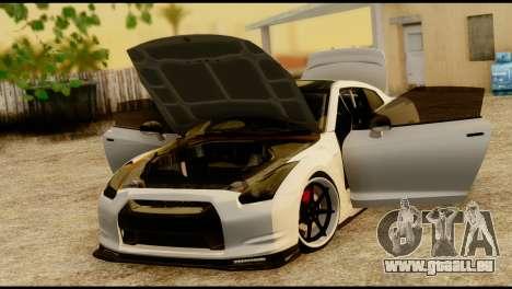 Nissan GT-R V2.0 für GTA San Andreas Rückansicht
