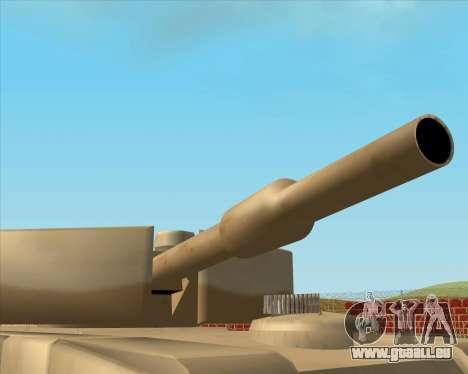 Dozuda.s Primary Tank (Rhino Export tp.) für GTA San Andreas zurück linke Ansicht