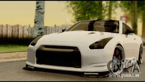 Nissan GT-R V2.0 pour GTA San Andreas vue de côté