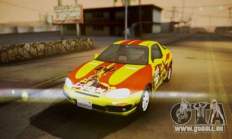 Mazda MX-3 pour GTA San Andreas vue arrière