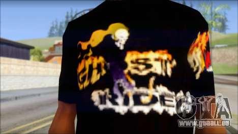 Ghost Rider T-Shirt für GTA San Andreas dritten Screenshot
