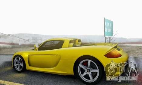 Porsche Carrera GT 2005 für GTA San Andreas obere Ansicht