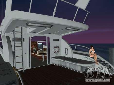 Yacht pour GTA Vice City sur la vue arrière gauche
