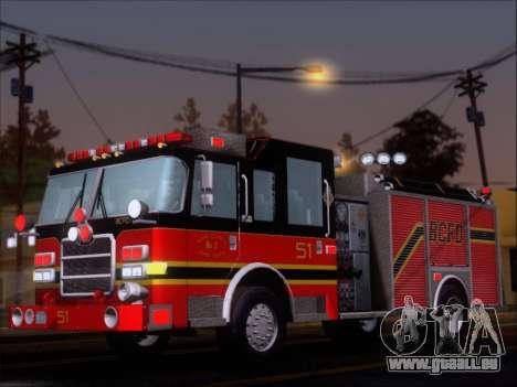 Pierce Arrow XT 2009 BCFD pour GTA San Andreas vue intérieure
