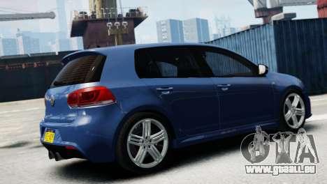 Volkswagen Golf R 2010 pour GTA 4 est une gauche