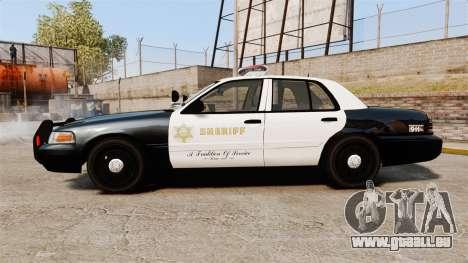 Ford Crown Victoria Sheriff [ELS] Marked pour GTA 4 est une gauche