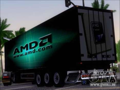 Remorque AMD Phenom X4 pour GTA San Andreas sur la vue arrière gauche