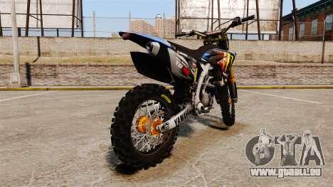 Yamaha YZF-450 v1.13 pour GTA 4 Vue arrière de la gauche
