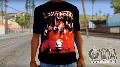 SlipKnoT T-Shirt mod für GTA San Andreas dritten Screenshot