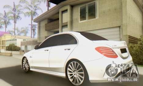 Mercedes-Benz C250 AMG pour GTA San Andreas sur la vue arrière gauche