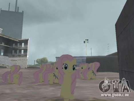 Fluttershy pour GTA San Andreas troisième écran