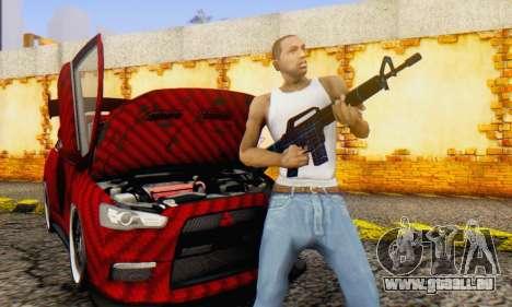 Abstract M16 pour GTA San Andreas quatrième écran
