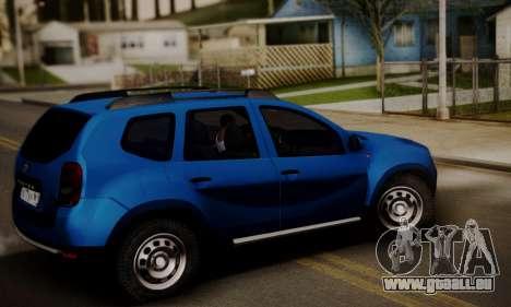 Lada Duster pour GTA San Andreas sur la vue arrière gauche