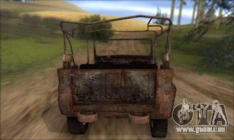 Verbrannt UAZ 469 für GTA San Andreas Seitenansicht