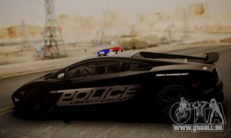 Lamborghini Gallardo LP 570-4 2011 Police v2 pour GTA San Andreas laissé vue