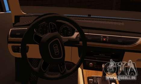 Audi S6 Avant 2014 pour GTA San Andreas sur la vue arrière gauche