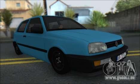 Volksvagen Golf Mk3 pour GTA San Andreas laissé vue