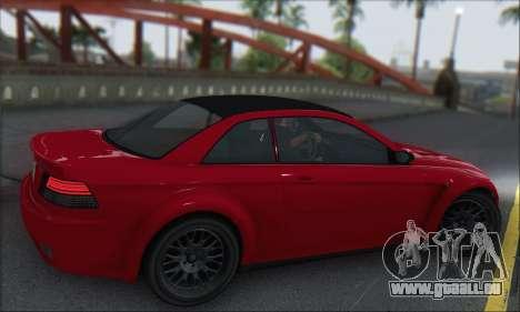 La supériorité Sentinel XS pour GTA San Andreas vue arrière