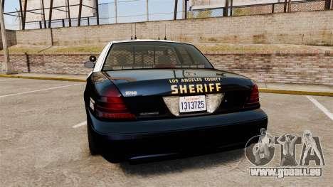 Ford Crown Victoria Sheriff [ELS] Slicktop pour GTA 4 Vue arrière de la gauche