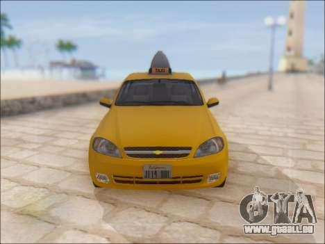 Chevrolet Lacetti Taxi für GTA San Andreas Seitenansicht