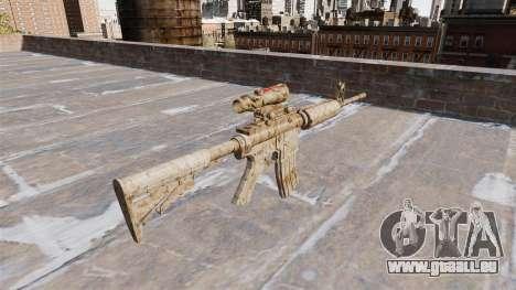 Automatique carabine ME Figure Camo beige pour GTA 4 secondes d'écran