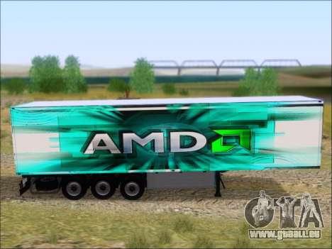 Remorque AMD Athlon 64 X2 pour GTA San Andreas vue arrière