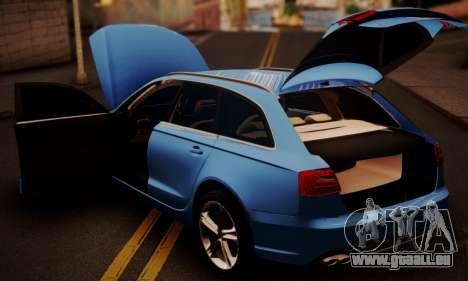 Audi S6 Avant 2014 pour GTA San Andreas vue arrière