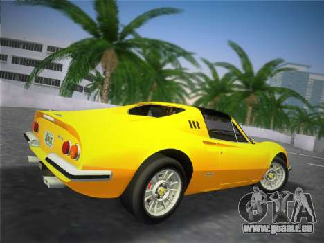 Ferrari 246 Dino GTS 1972 für GTA Vice City Rückansicht