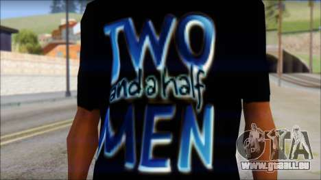 Two and a half Men Fan T-Shirt für GTA San Andreas dritten Screenshot