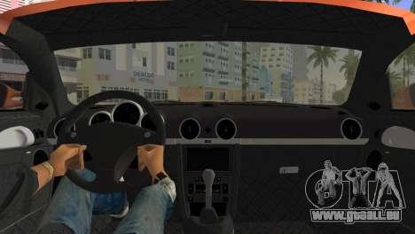 RUF CTR3 pour GTA Vice City sur la vue arrière gauche