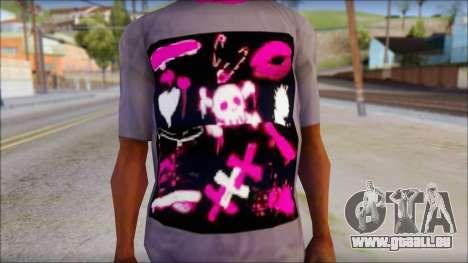 Emo T-Shirt pour GTA San Andreas troisième écran