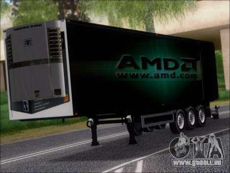 Remorque AMD Phenom X4 pour GTA San Andreas laissé vue