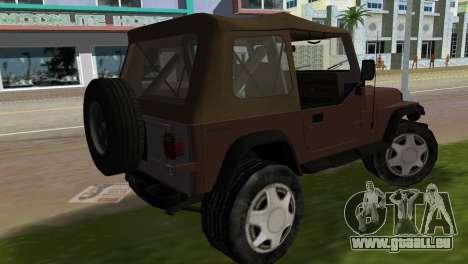 Jeep Wrangler pour une vue GTA Vice City de la gauche