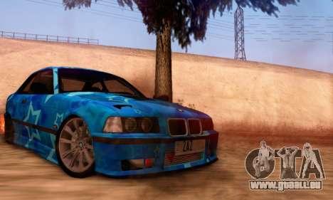 BMW M3 E36 Coupe Blue Star pour GTA San Andreas vue de droite