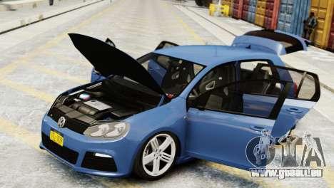 Volkswagen Golf R 2010 pour GTA 4 est un droit