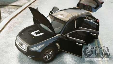 Infiniti FX50S v1.0 pour GTA 4 Vue arrière de la gauche