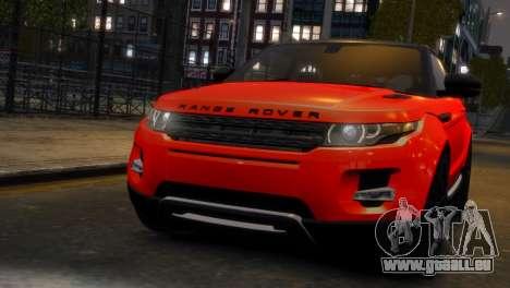 Land Rover Range Rover Evoque pour GTA 4 Vue arrière de la gauche