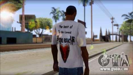 Papa Roach The Best Of To Be Loved Fan T-Shirt für GTA San Andreas zweiten Screenshot