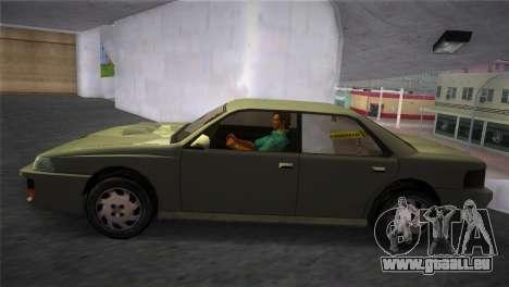 Sultan from GTA San Andreas pour GTA Vice City sur la vue arrière gauche