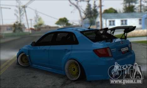 Subaru Impreza WRX STI 2010 für GTA San Andreas Rückansicht