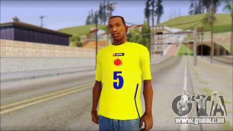 T-Shirt Colombia für GTA San Andreas