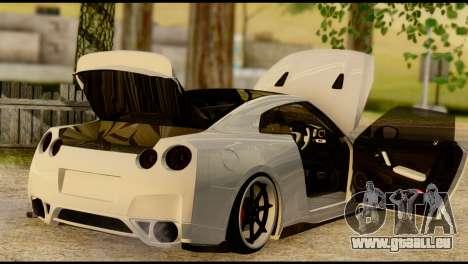 Nissan GT-R V2.0 pour GTA San Andreas vue intérieure