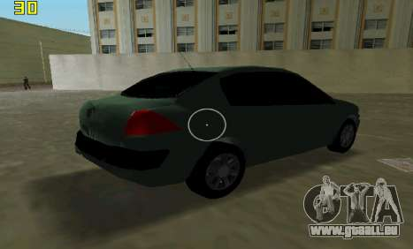 Renault Megane Sedan 2001 für GTA Vice City Innenansicht
