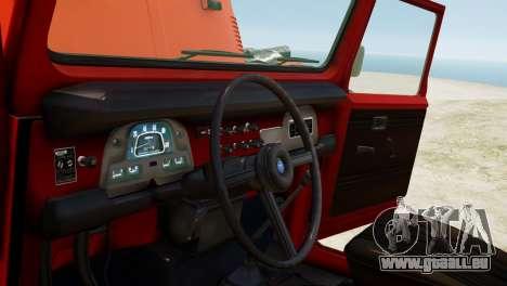 Toyota FJ40 Land Cruiser 1978 Beta für GTA 4 Innenansicht