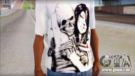 BFMV Russian Roulette T-Shirt für GTA San Andreas dritten Screenshot