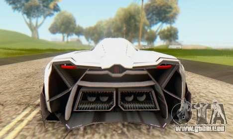 Lamborghini Egoista Concept 2013 pour GTA San Andreas vue de droite