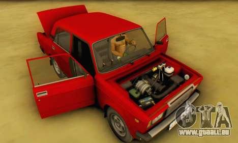 VAZ 2107 Stock pour GTA San Andreas vue intérieure